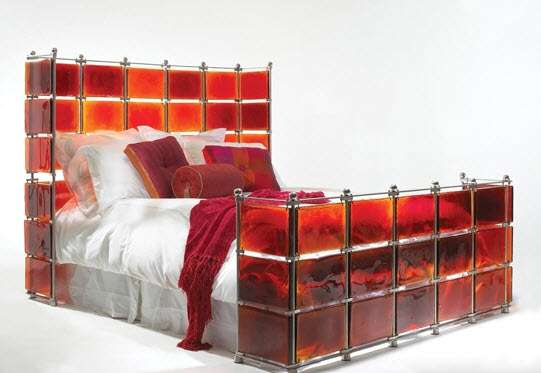 Glasmalerei Betten