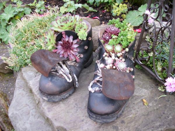 Pink Stöckelschuh Blumentopf Upcycling Ideen