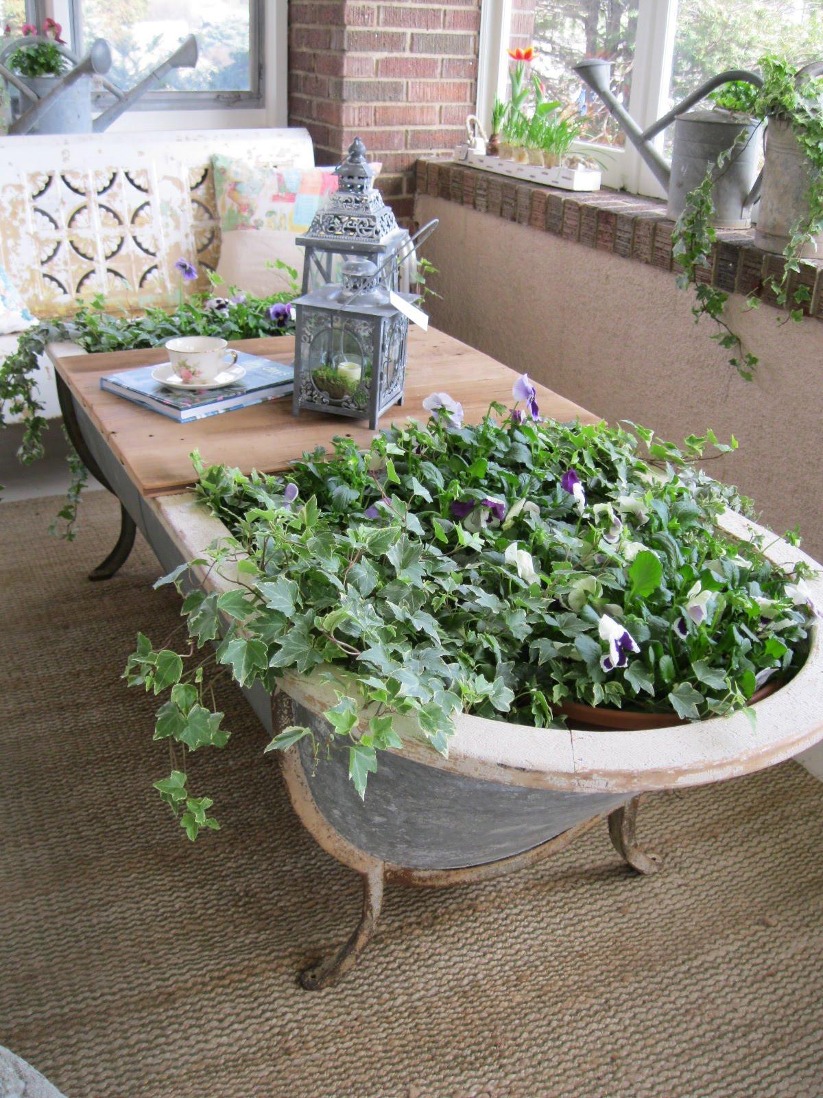 wannenrecycling – pflanzgefäße für den garten, Gartengerate ideen