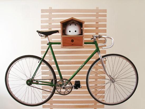 Fahrradhalterung für Wand  selber bauen ideen haken montage lenker steuersatz befestigung