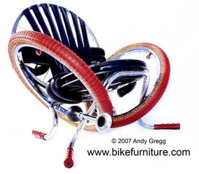 Moderne metallmöbel  Moderne Möbel aus recycelten Fahrrädern
