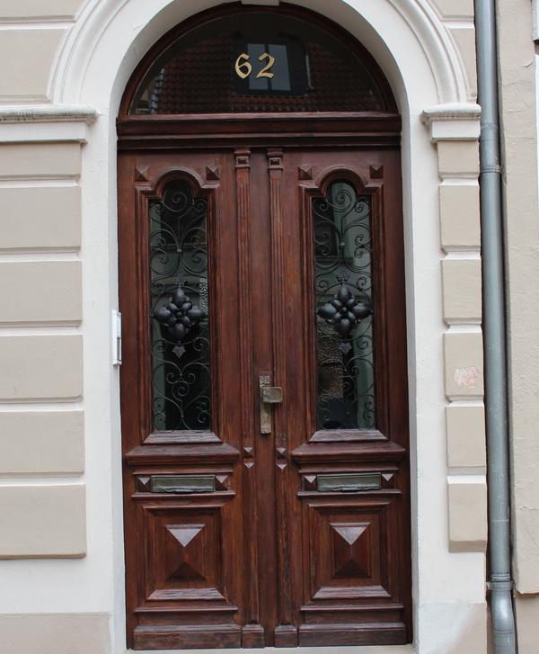 HaustUren Holz Denkmalschutz ~ Sehr gut restaurierte Haustür aus der Zeit des Jugendstils