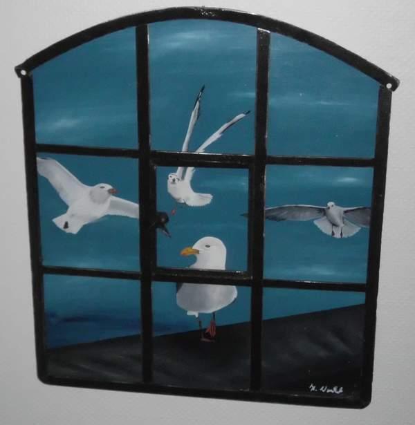 Bild im Eisenfenster