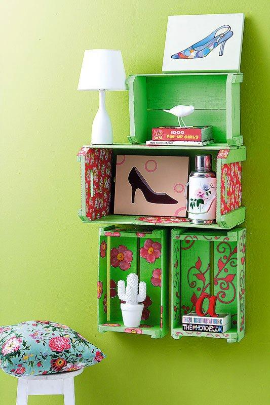 regale aus obst und weinkisten blog an na haus und gartenblog. Black Bedroom Furniture Sets. Home Design Ideas