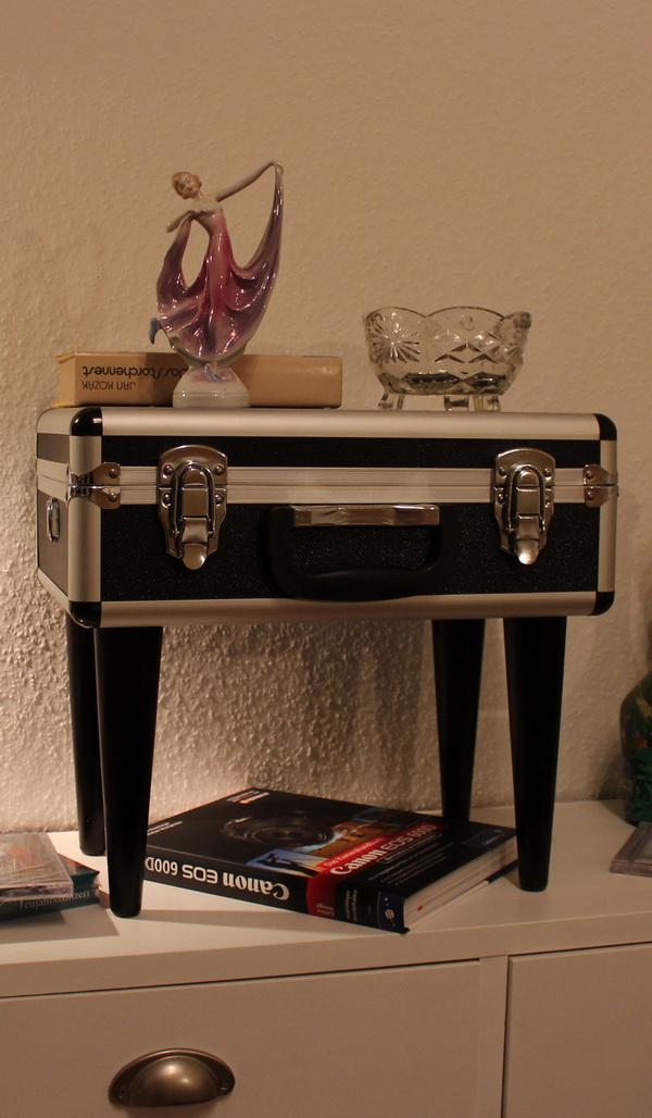 Diy koffer beistelltisch blog an na haus und gartenblog for Tisch koffer design