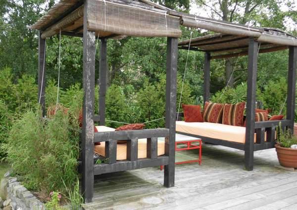 bauidee sitz und schlafplatz im freien blog an na haus. Black Bedroom Furniture Sets. Home Design Ideas