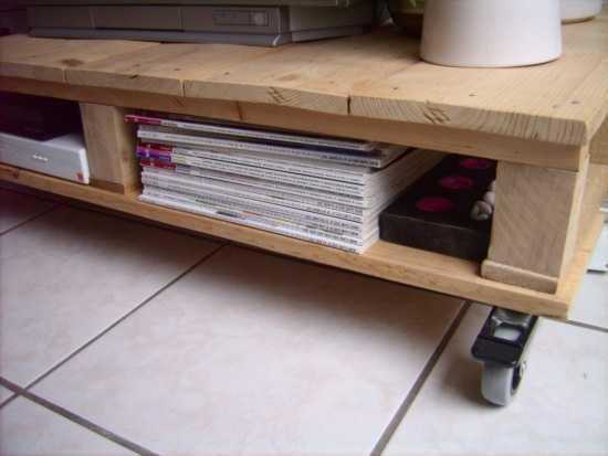 Bauidee palettenm bel tv tisch aus palettenholz - Meuble de rangement en palette ...