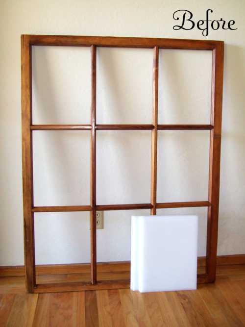 Bauidee altes holzfenster wird ein sch ner spiegel blog an na haus und gartenblog - Spiegel sprossenfenster ...