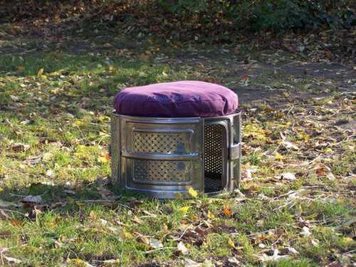 bauidee waschmaschinentrommel als hocker nutzen blog an na haus und gartenblog. Black Bedroom Furniture Sets. Home Design Ideas