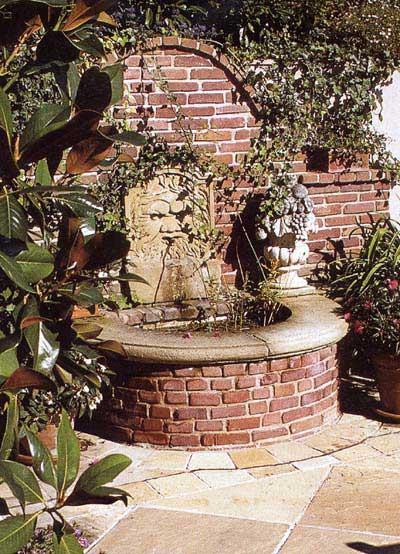 gartenbrunnen aus alten ziegeln und sandsteinelementen blog an na haus und gartenblog. Black Bedroom Furniture Sets. Home Design Ideas