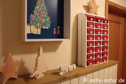 diy adventskalender aus alter schublade blog an na haus und gartenblog. Black Bedroom Furniture Sets. Home Design Ideas
