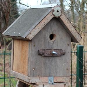 Vogelhaus aus alten Materialien