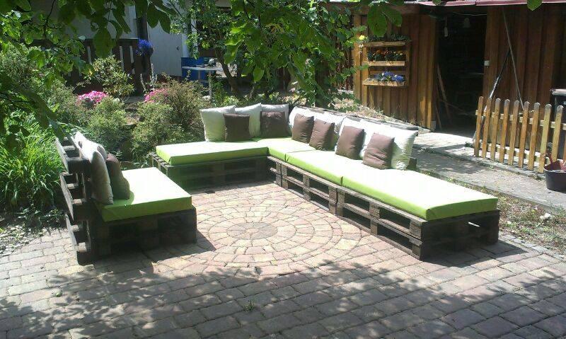 Outdoor Paletten Sitzgruppe