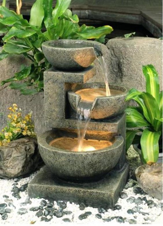Betonspringbrunnen