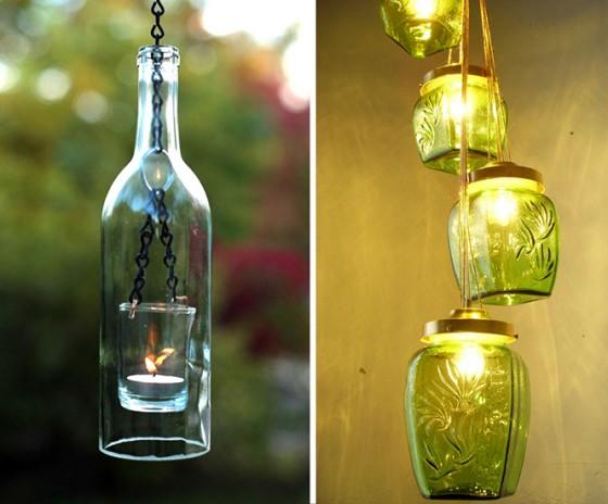Lampen und anderes aus einmach gl sern flaschen for Lampen n und l