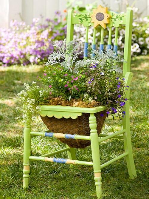 Gartenidee alte st hle f r die blumen blog an na haus for Wohnideen minimalisti