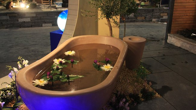 Badewanne für den Garten