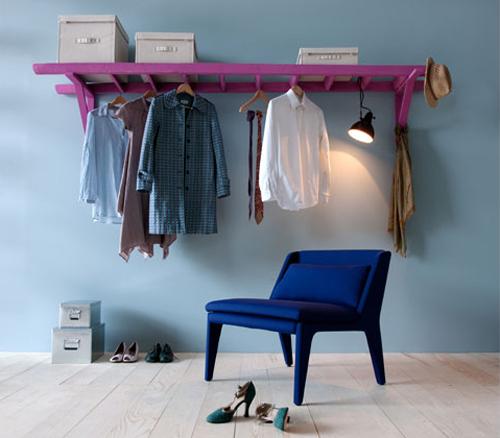 Leiter-Garderobe
