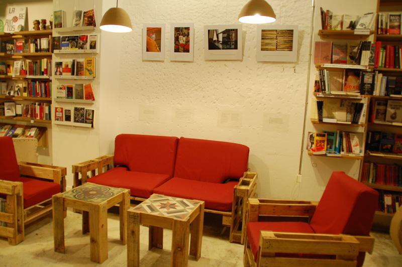 Wohnzimmer aus Paletten