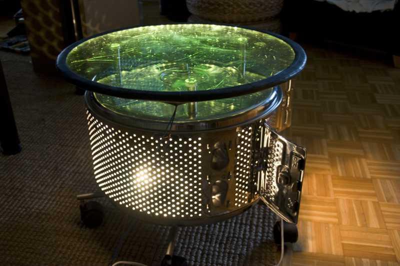 bauidee waschmaschinentrommel beistelltisch blog an. Black Bedroom Furniture Sets. Home Design Ideas