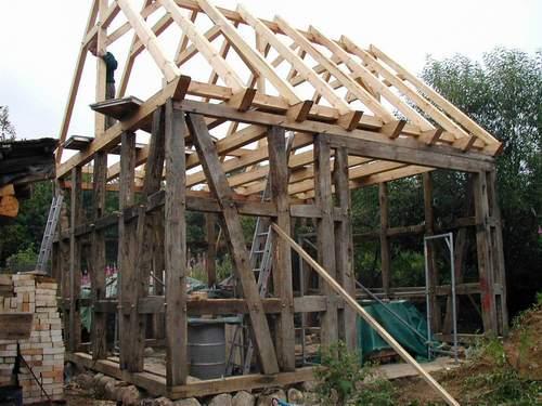 Fachwerkhaus im Rohbau