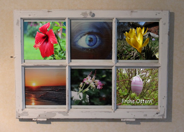 Bilderrahmen aus einem Recyclingfenster
