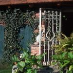 Backhaus linke Seite mit Zwingertür