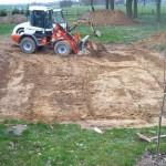 Beginn der Schachtarbeiten