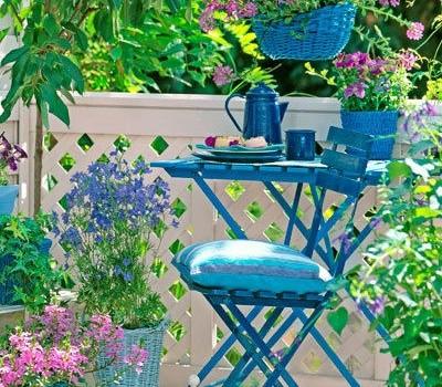 Sitzplatz auf einer Terrasse