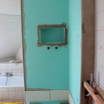 Duschwand beplankt