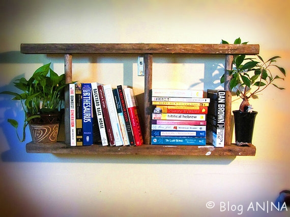 Leiter- Bücherregal