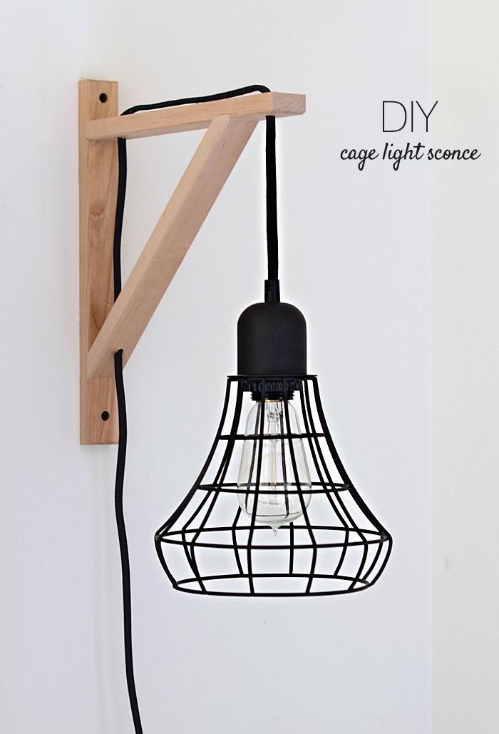 DIY Käfig Lampe