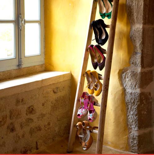 DIY - Schuhregal aus einer Leiter