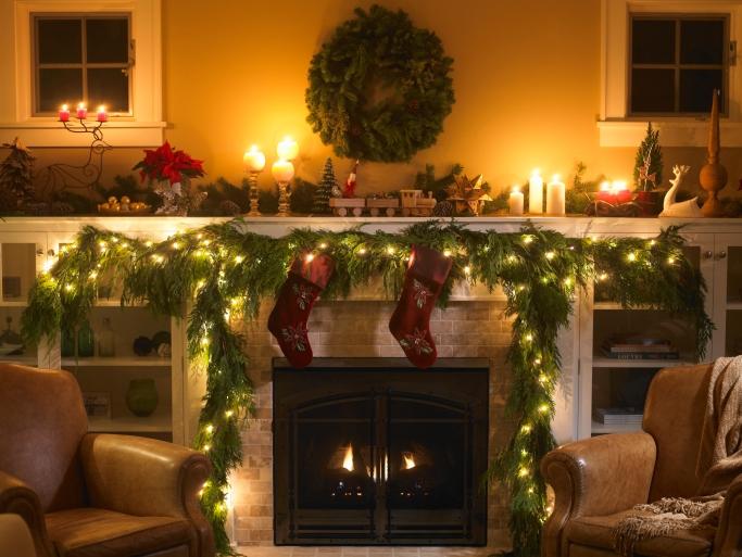 Weihnachtlicher Kamin