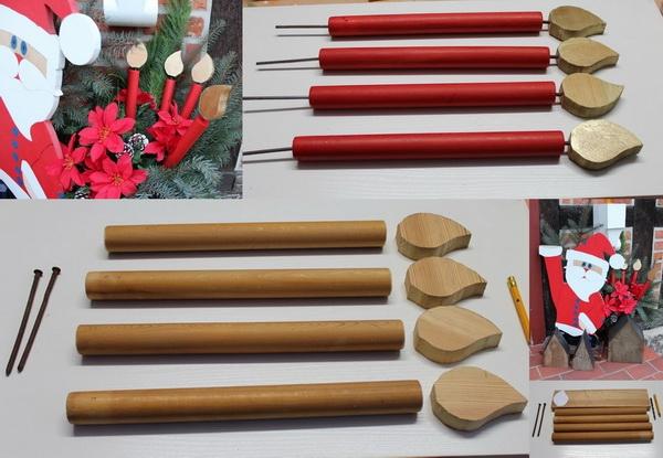 Holzweihnachtskerzen