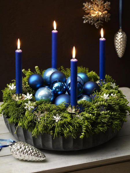Farbenfroher Adventskranz
