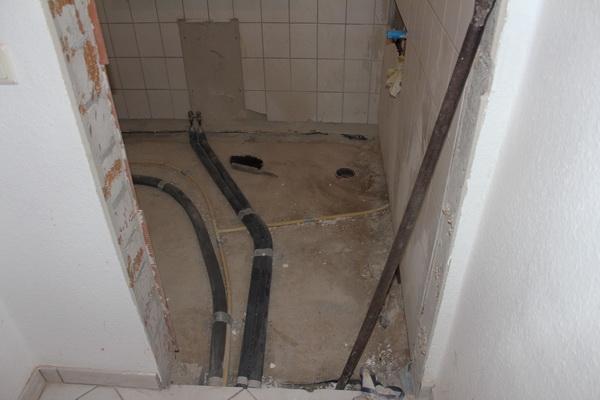 Entkernung Duschbereich