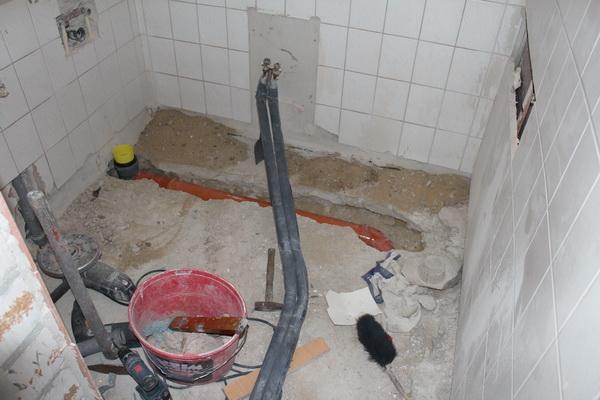 Umverlegung WC Anschluss