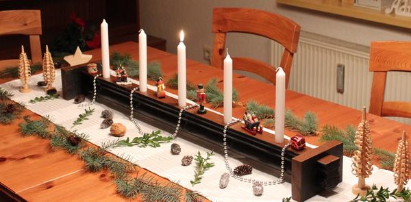 Kerzenhalter als Adventsdekoration