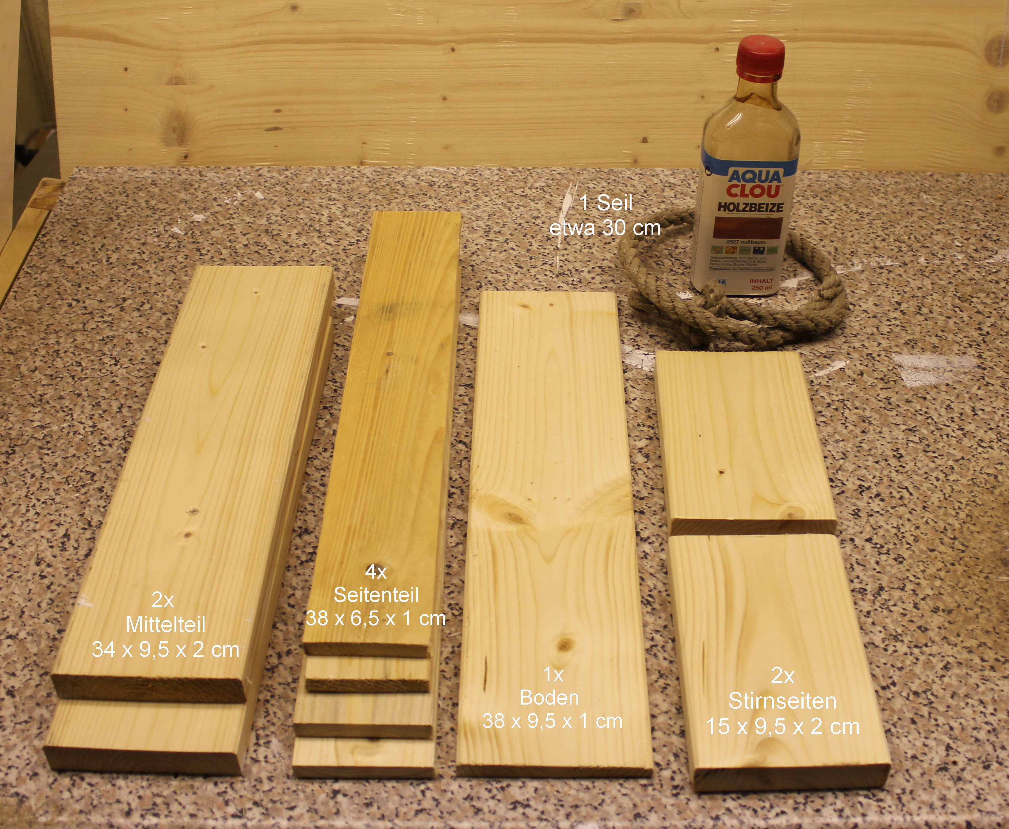 Material für den Flaschenträger