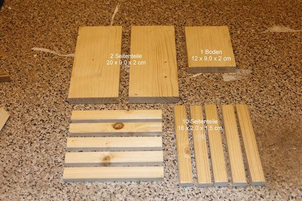 Material für Holzkorb
