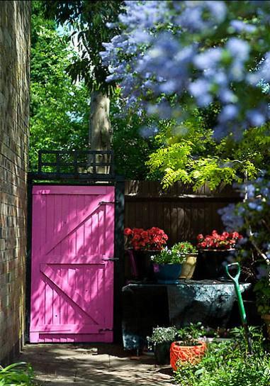 Gartentor in pink