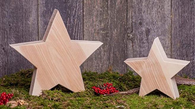 Holzstern Esche - Dekoration aus Holz