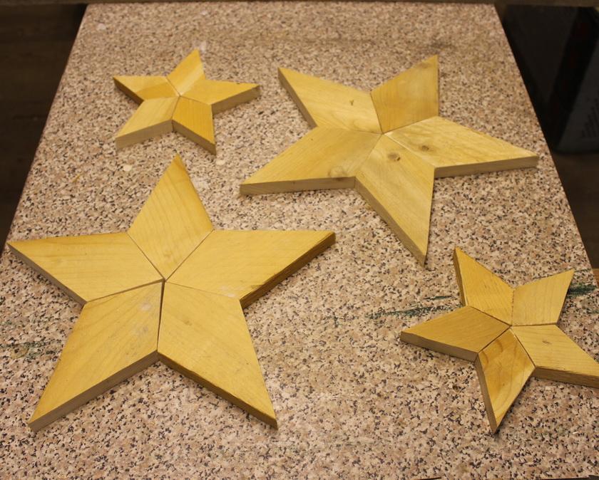 Sterne lose zusammen gelegt