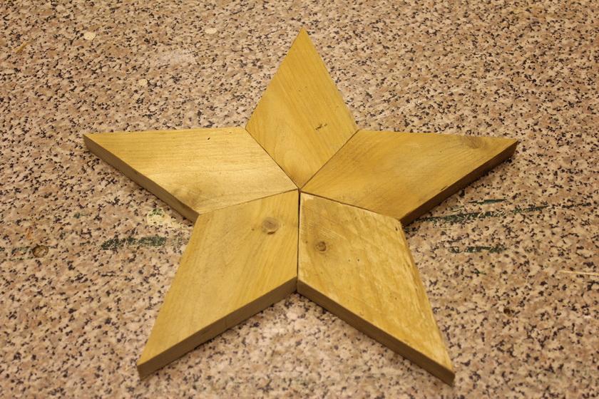 Stern lose zusammen gelegt