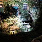 Gartenbeleuchtung mit Spots
